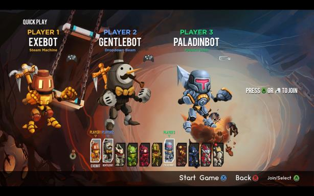 In Hookbots PC game, you are waiting for robots, complete chaos and chaos. Fight with your human friends in this multiplayer robot party game