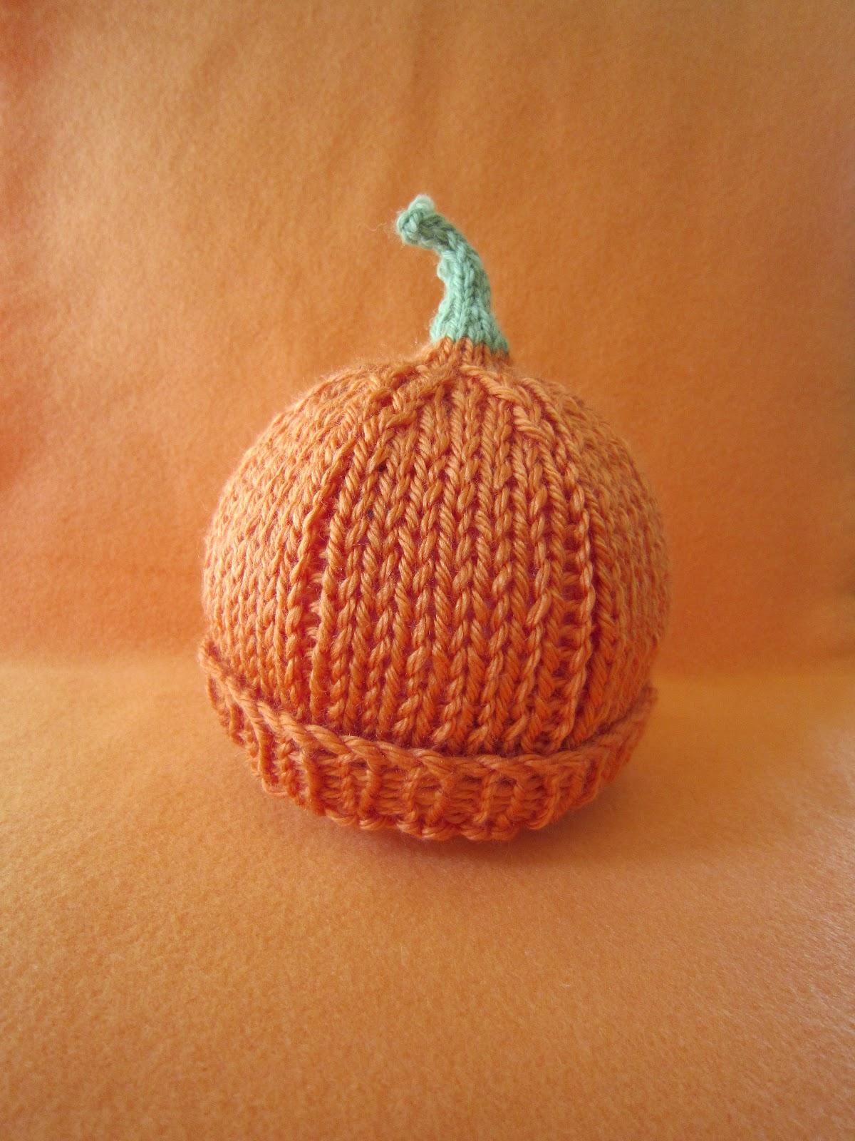 Sea Trail Grandmas Preemie Pumpkin Hat Knit Pattern