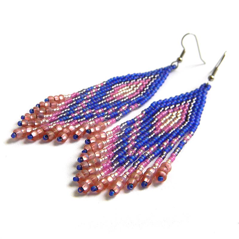 купить серьги из бисера seed bead earrings beadwork
