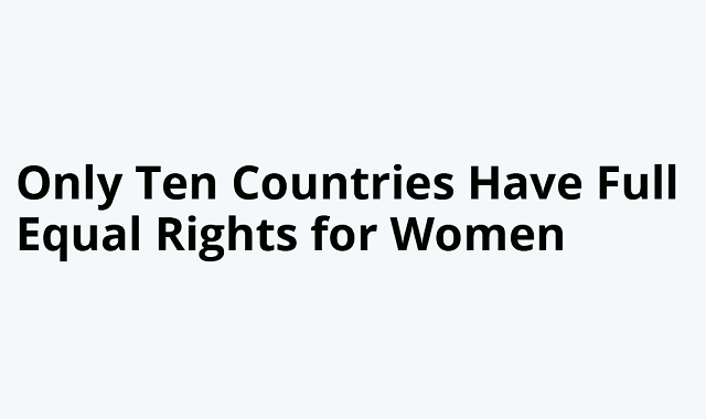 Countries that have equal rights for women
