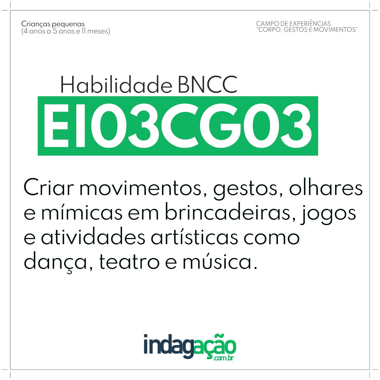 Habilidade EI03CG03 BNCC