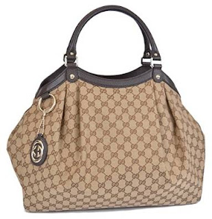 Gucci Large Brown Canvas GG Guccissima Sukey Handbag