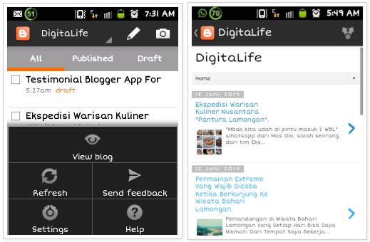 Ngeblog Mudah Dengan Aplikasi Blogger.