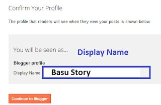 Blogger Profile / Display Name