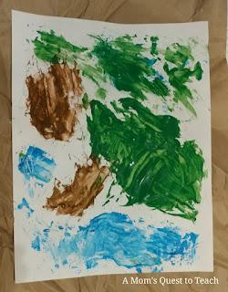 children's painting of iguana