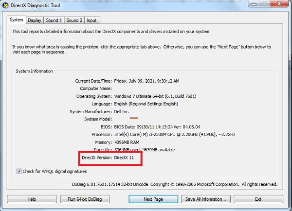 Cách kiểm tra phiên bản DirectX đang chạy trên Windows b
