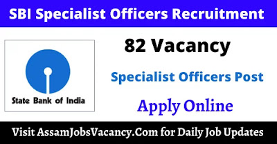 SBI Specialist Cadre Officers Recruitment 2021