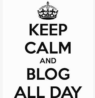 keep calm and blog all day