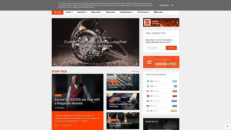 MagOne v6.7.8 Responsive Blogger Template Premium Version