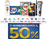 Logo Procter & Gamble '' Ora riparti da te'' : rimborso del 50% con Pantene, Dash e non solo