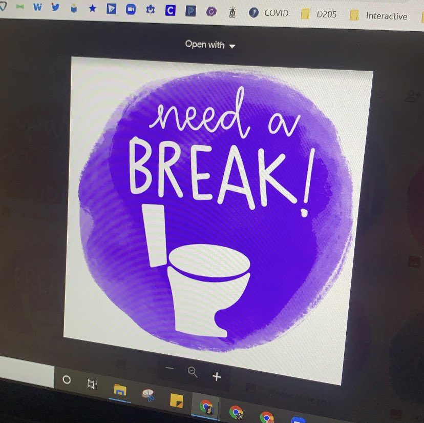 "Screenshot of the ""I need a break"" sign"