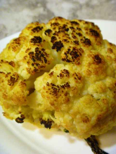 Stonefire Grill's Roasted Cauliflower with Tahini Sauce - one of the BEST side dishes around! Slice of Southern