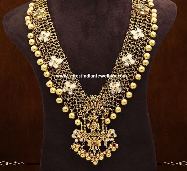 Lord Krishna Mesh Necklace