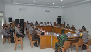 Polres Merangin Gelar Rapat Kesiapan Operasi Yustisi Dalam Rangka Optimalisasi Penggunaan Masker Di Kabupaten Merangin