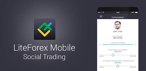 ứng dung liteforex trên smartphone