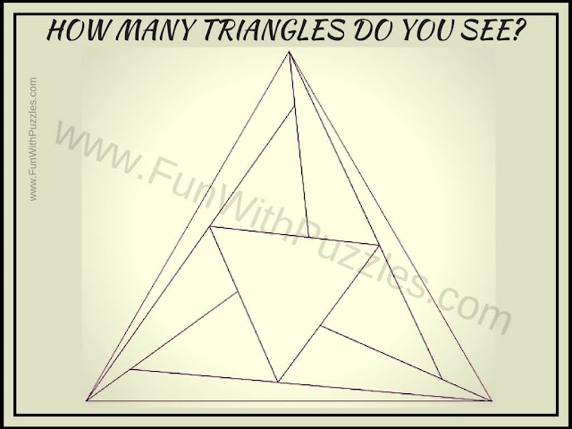 Puzzle to Count number of triangles