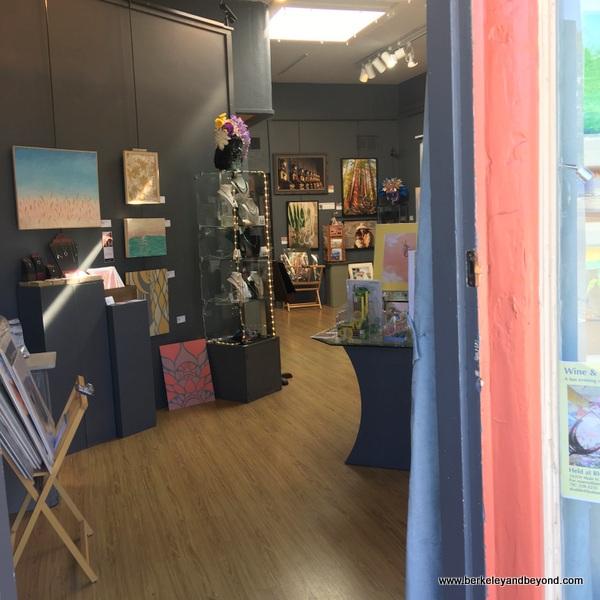 interior of Russian River Art Gallery in Guerneville, California