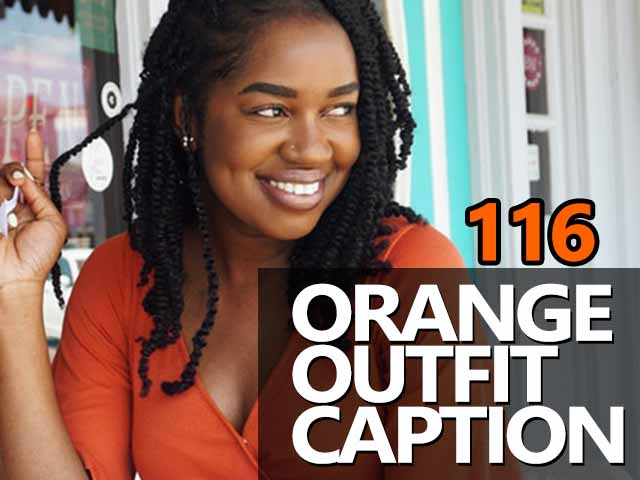 Catchy Orange Outfit Captions for Instagram Pictures
