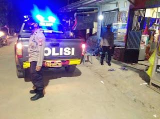 Mencegah Terjadinya Tindak Pidana Personel Polsek Malua Polres Enrekang Laksanakan Patroli Blue Light