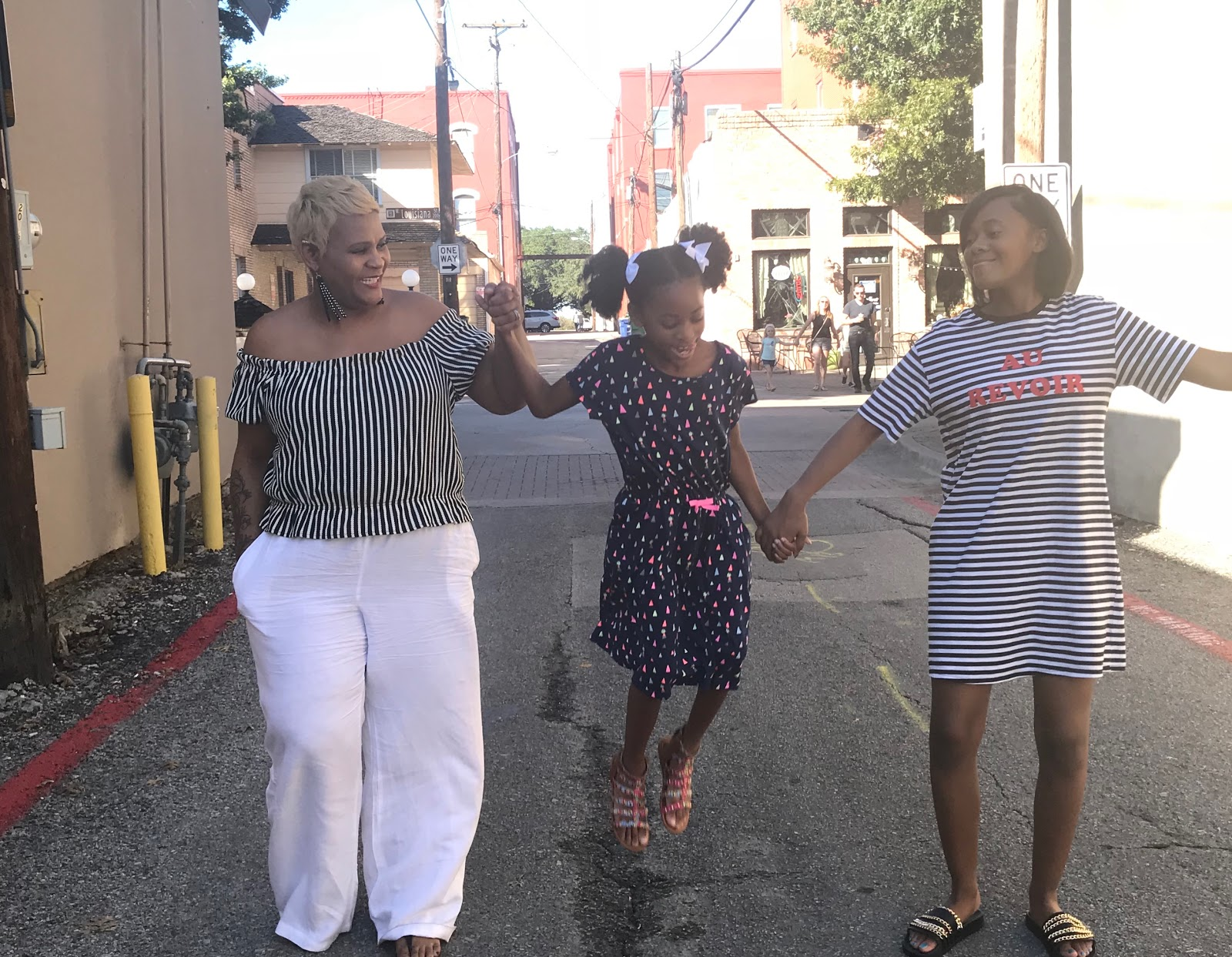 Image: Woman and two daughters laugh and joke about aging gracefully. Seen first on Bits and Babbles Blog by Tangie Bell. #midlifenotes #beingfortysomething #lifelessons