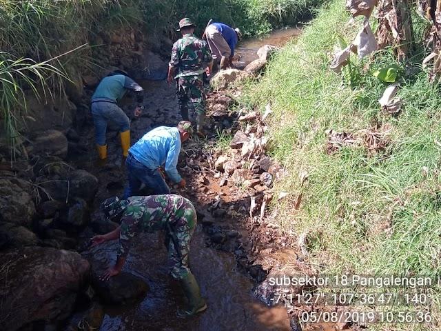 Permasalahan dan Upaya Satgas Subsektor 21-18 Mengurangi Pencemaran di Hulu Sungai Cisangkuy