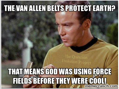 "Planet Earth is protected by a ""Star Trek"" - like shield in space? Seems to be. More evidence of the Creator's work to keep us safe."