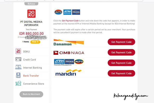 Lakukan pembayaran cek lab lewat DOKU dan transfer bank