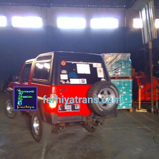 biaya pengiriman sepeda motor truk tronton trailer surabaya kupang