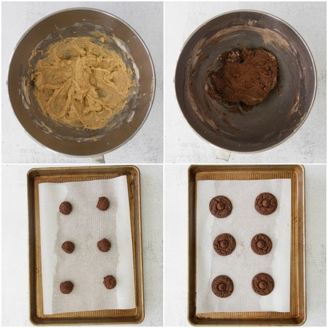 collage of cookie process photos.