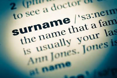 Definición de apellidos en el diccionario
