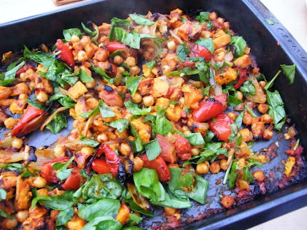 Sweet Potato, Spinach & Chickpea Bake