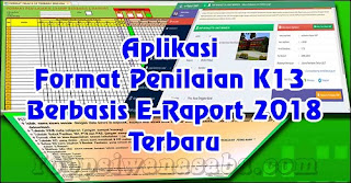 Aplikasi Format Penilaian K13 Berbasis e-Rapor 2018 Terbaru