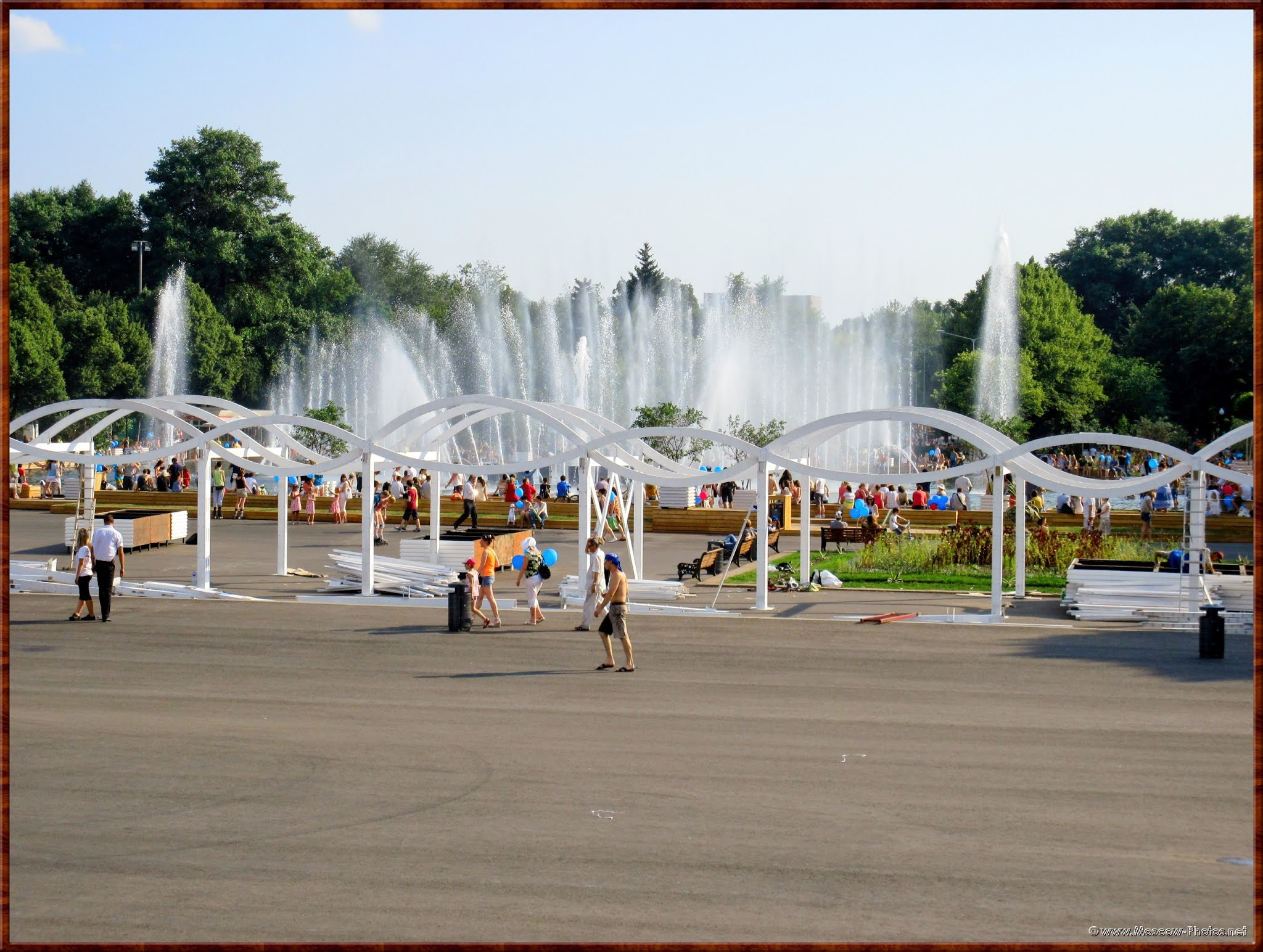 Fountain in the Moscow Park of Culture and Recreation