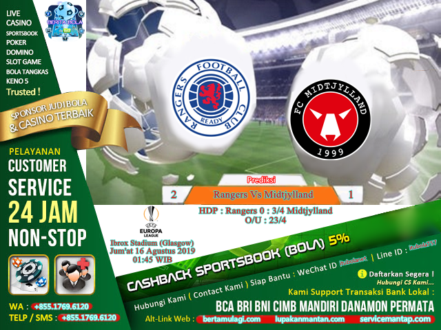 Prediksi Rangers Vs Midtjylland - ituBola
