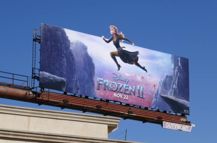 Anna Frozen II movie billboard