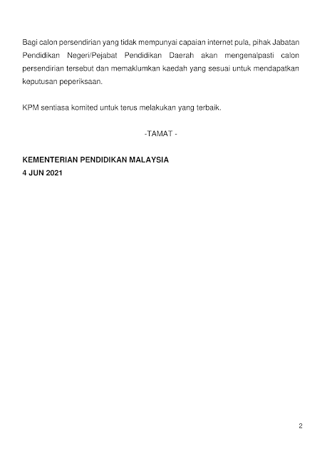 Keputusan SPM 2020 ms 2