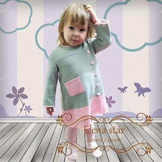 Платье Неженка , ElenaStar, описание, схема,связать