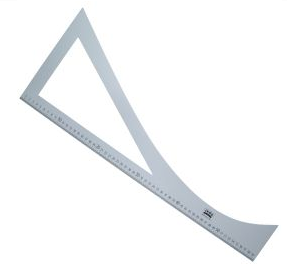 Patroonliniaal / Tekenhoek 60 cm lang aluminium