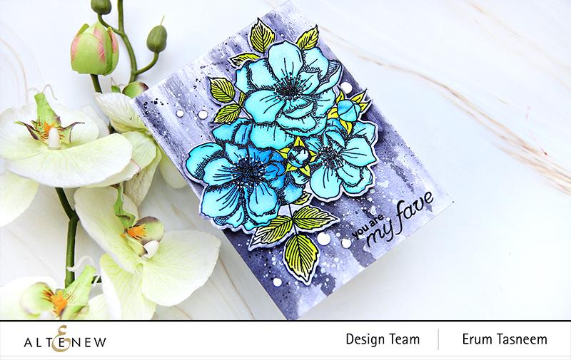 Altenew Fairy Tale Florals Stamp Set | Erum Tasneem | @pr0digy0