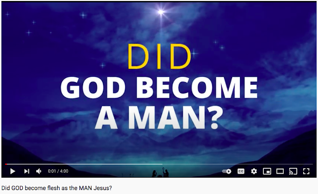 Did GOD become flesh as the MAN Jesus?