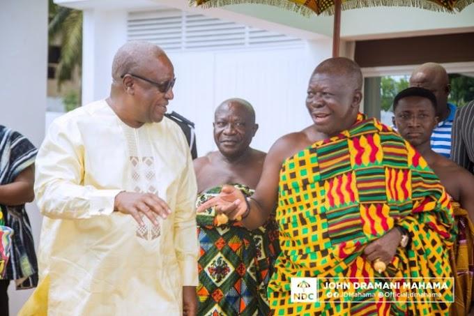 Otumfuo visits Mahama