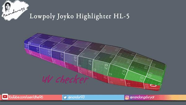 UV Checker Lowpoly Joyko Highlighter HL-5 Nandur93