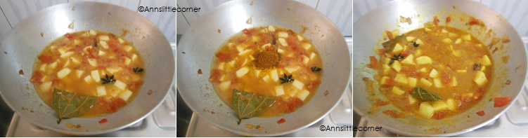 How to make Potato Kurma- Step 4