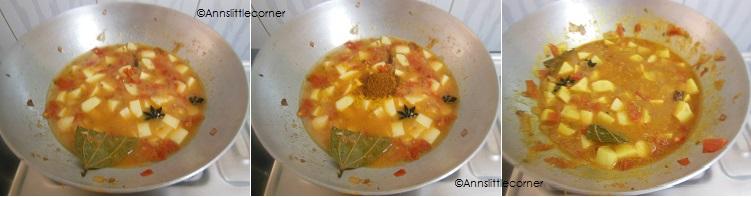 How to make Potato Kurma- Step 4