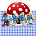 The Smurfs: Free Printable Original Nuggets or Gum Wrappers.