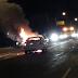 Incendio de un vehículo tras una colisión en Estelí.