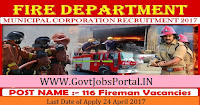 Fire Department Muncipal Corporation Recruitment 2017-116 Fireman