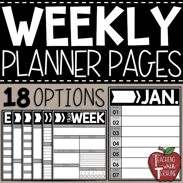 Weekly Calendar Planner Pages