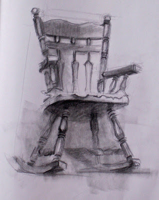 Two Point Perspectivea Drawing Of A Rocking Chair