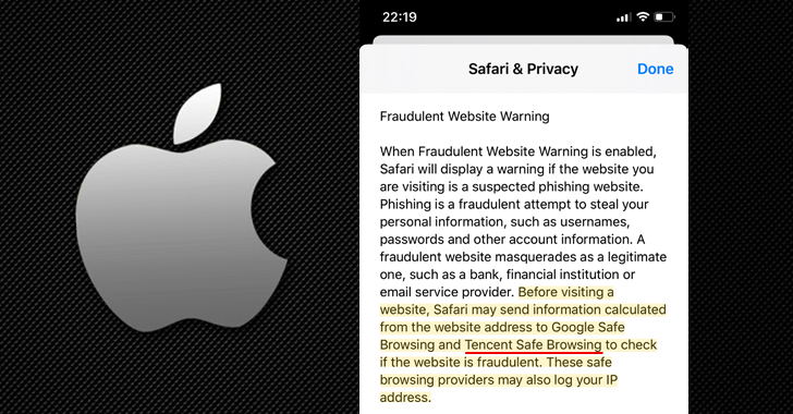 apple safari safebrowsing tencent